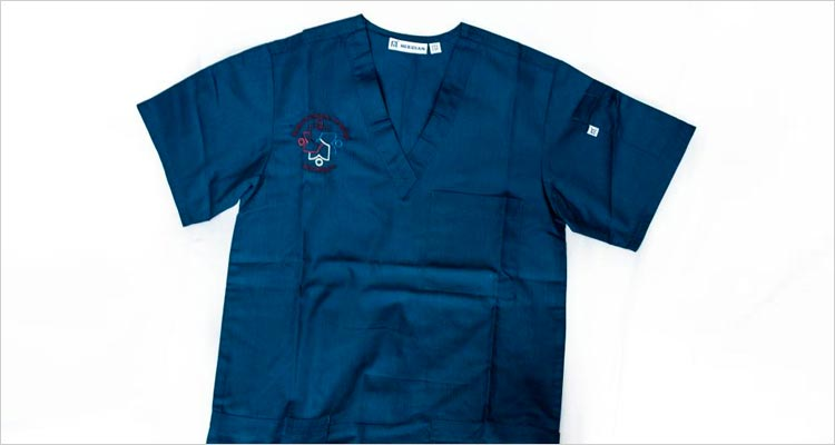 Picture of scrub shirt