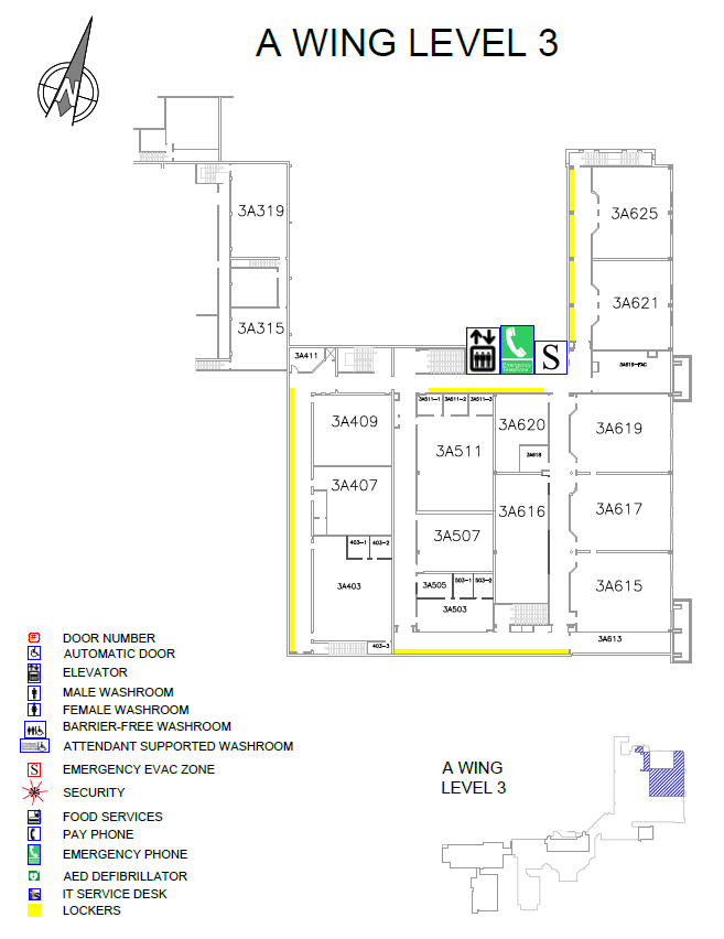 Overview of Doon Main Building (DMB) A wing Level 3