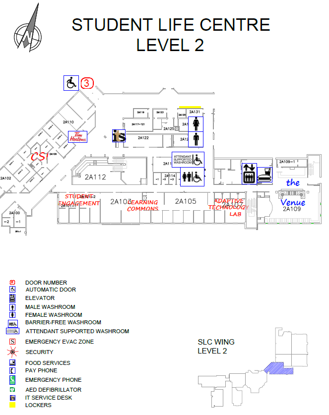 Overview of Doon Main Building (DMB) Student Life Centre Level 2