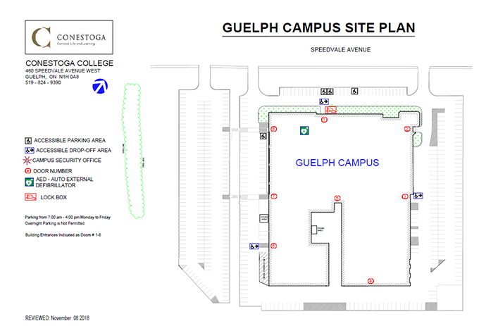 Overview of Guelph Site Plan