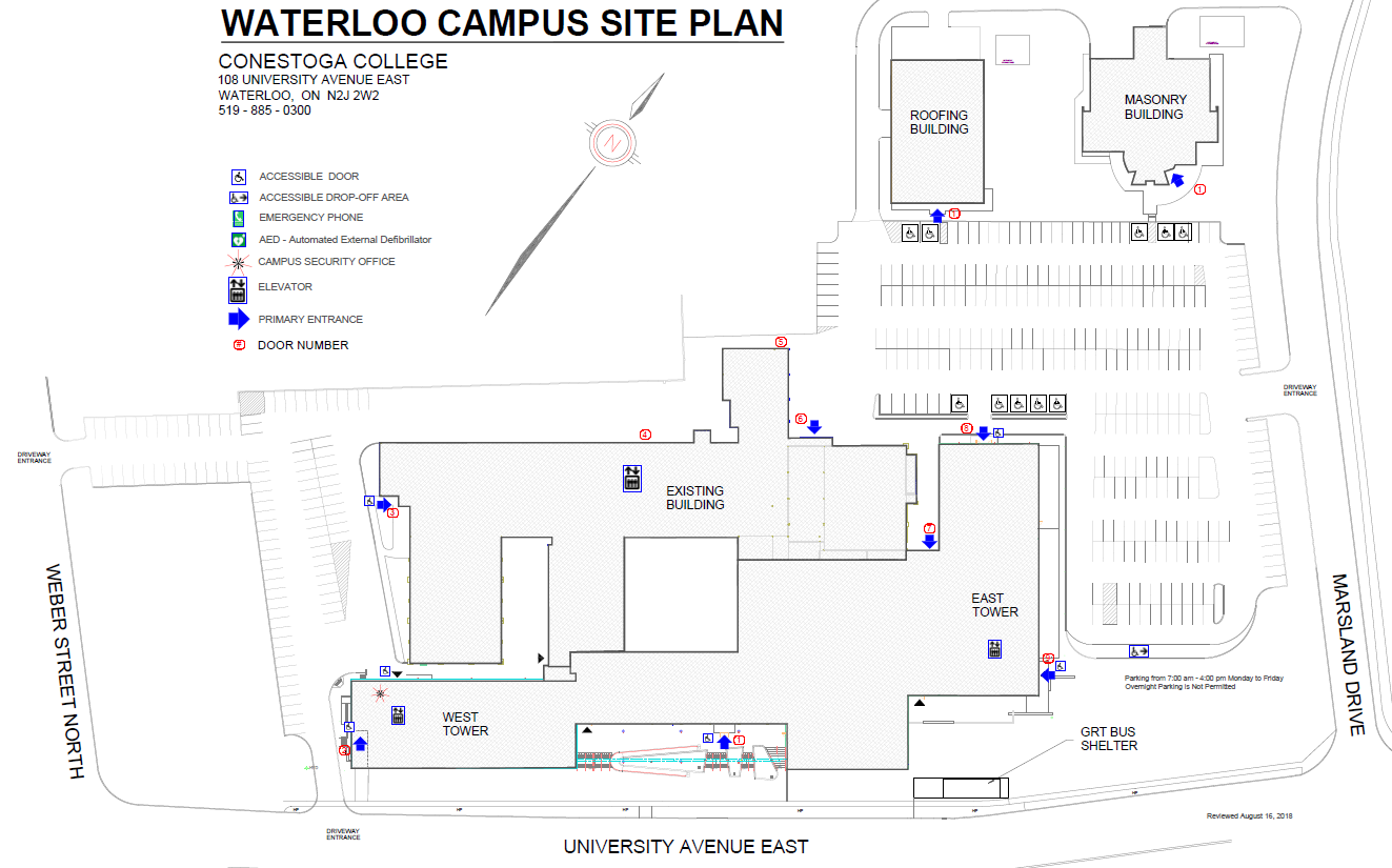 Waterloo Site Plan Conestoga College