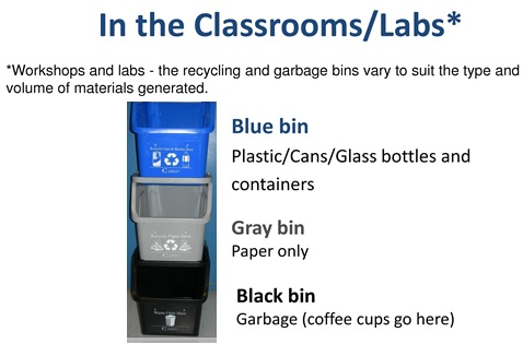 Stacked Bins in the Classrooms and Labs
