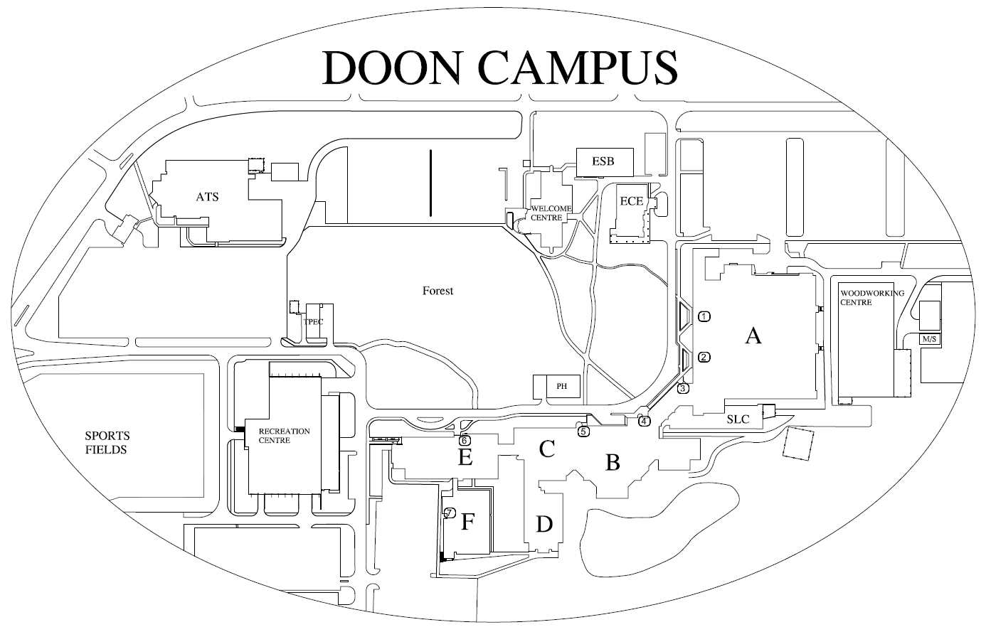 Conestoga College Doon Campus Map Doon Floor Plan | Conestoga College