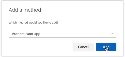 screenshot authenticator app step b
