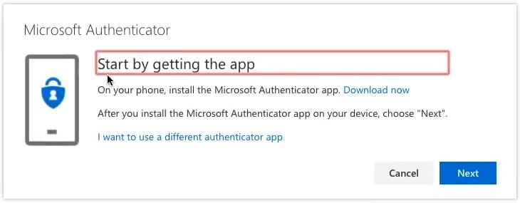 screenshot authenticator app step c