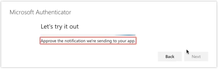 screenshot authenticator app step g