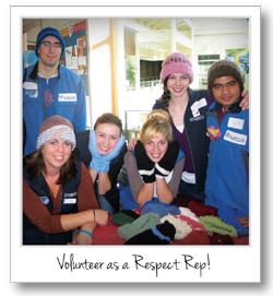 Volunteer as a Respect Rep