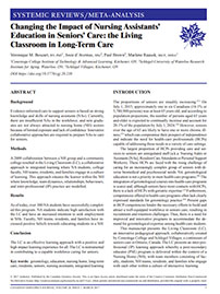 Changing Impact of Nursing Assistants Education