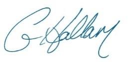 Gary Hallam Signature