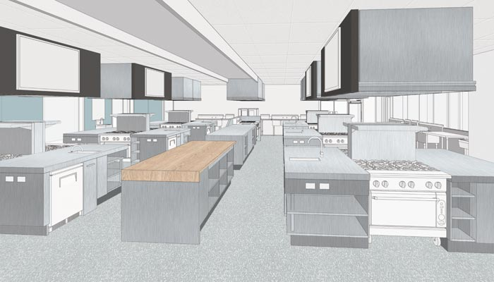 Conestoga College Waterloo Campus Expansion Culinary Skill Lab