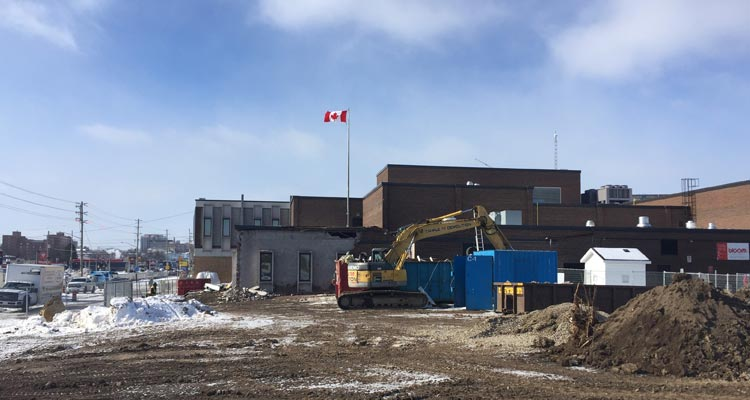 Conestoga College Waterloo Campus Expansion Construction February 16, 2017